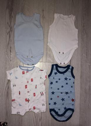 Детские боди, песочник, 0-3 месяца