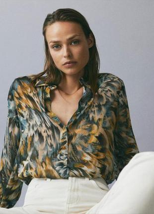 Блузка рубашка massimo dutti