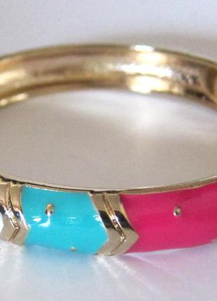 Браслет из бижутерного сплава с разноцветной эмалью