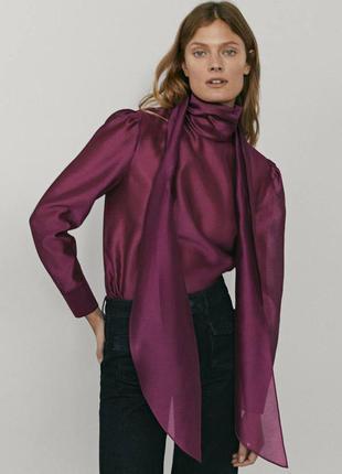 Блузка шелковая massimo dutti