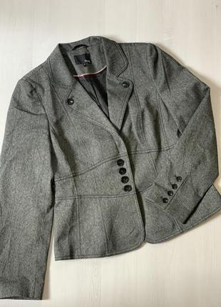 Фирменны пиджак мелкая гусиная лапка