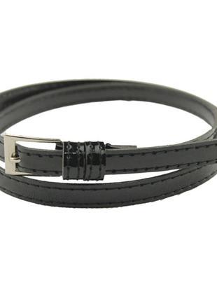 Женский черный ремень 4004