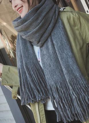 Широкий теплый шарф 6001