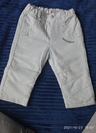 Утеплённые вельветовый штаны.