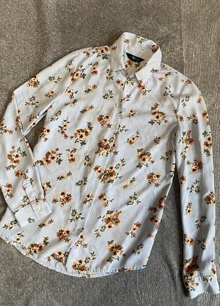 Небесно голубая 💙 рубашка /блуза new look