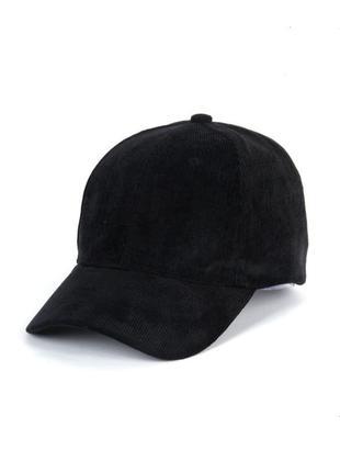 Крутая черная кепка бейсболка в рубчик 2013