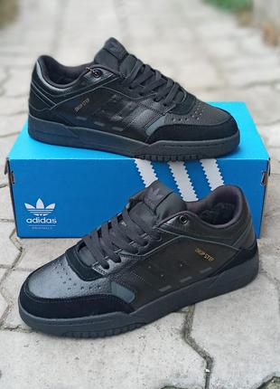 Зимние мужские кроссовки adidas drop step кожаные, черные