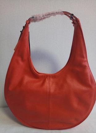 Круглая сумка хобо french connection лососевая, красная