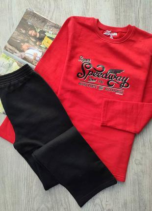 Тёплый спортивный костюм с начёсом, свитшот и спортивные брюки, кофта и штаны