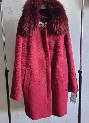 Зимнее пальто новое, размер 52