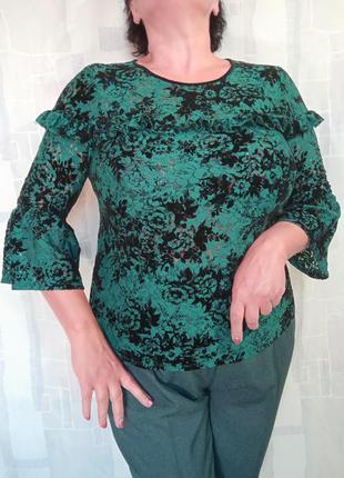 Блузка из стрейчевого гипюра, панбархата