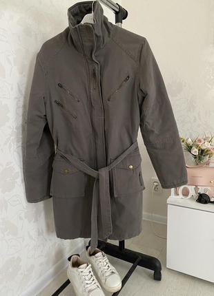 Текстильное утепленное пальто