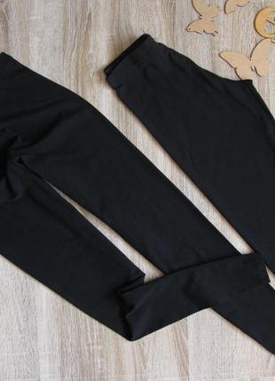 Черные трикотажные лосины  eur 36/38