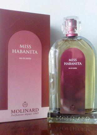 "Туалетная вода ""miss habanita molinard"", 100мл, франция"