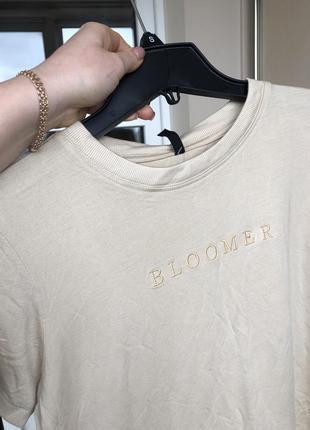 Новая легкая футболка беж с бирками брендовая топ майка