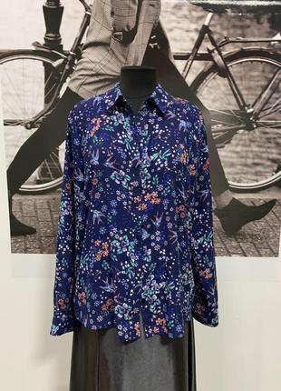 Блуза шифон в мелкий цветочек