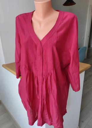 💯 натуральний шовк шелк ❤️🔥 блуза. большой размер. пог 62