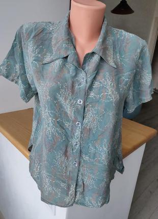 💯 натуральний шовк шелк ❤️🔥 блуза. пог 53. без нюансів ❤️🔥