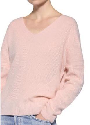 Шерстяной свитер полувер пудрового нюдового цвета