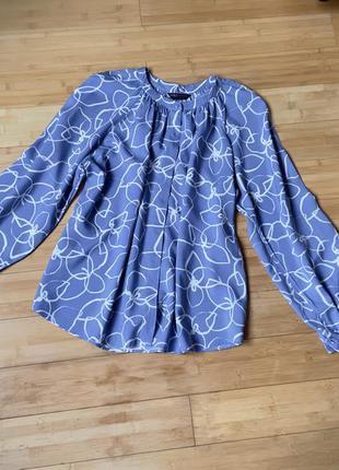 Натуральная,нежно-голубая блуза