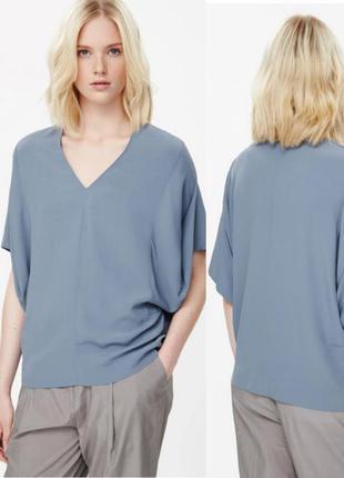 Стильная блуза футболка оверсайз топ cos оригинального кроя