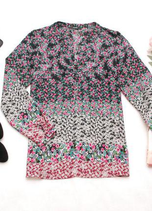 Шифоновая блуза, рубашка в цветочный принт george 12uk