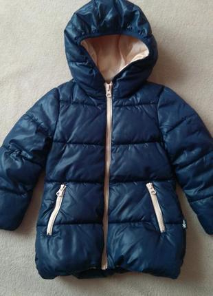 Куртка benetton для дівчинки тепла демісезонна єврозима курточка деми зимняя