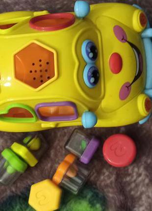 Интерактивная машинка сортер игрушка huile toys автошка погремушки полный комплект