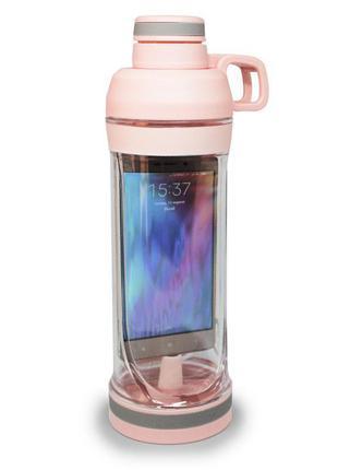 Туристический термос бутылка с разделом для телефона