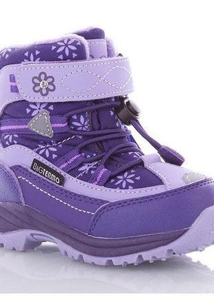 Термоботинки, ботинки зимние для девочки b&g-termo арт.r20-207, фиолетовый