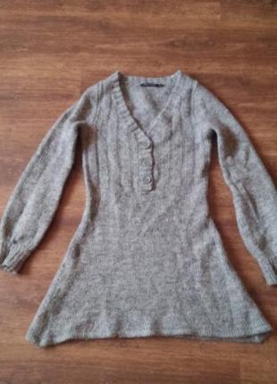 Шерстяная и очень теплая туника свитер!
