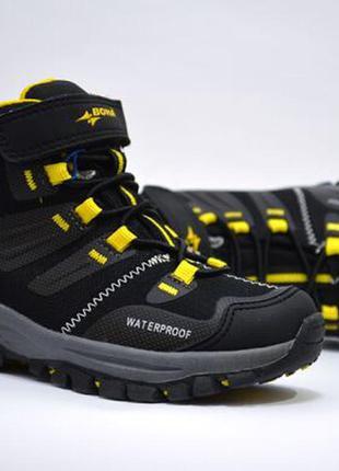 Ботинки термо для мальчика bona арт.401-9c еврозима, черный-желтый