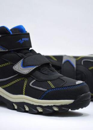 Ботинки термо для мальчика bona  арт.404-9c еврозима, черный-синий
