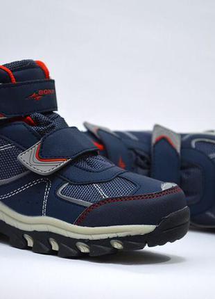 Ботинки термо для мальчика bona арт.404-9h еврозима, сине-красный
