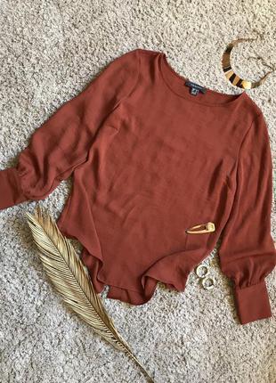 Блуза с объемными рукавами стильная свободная блузка