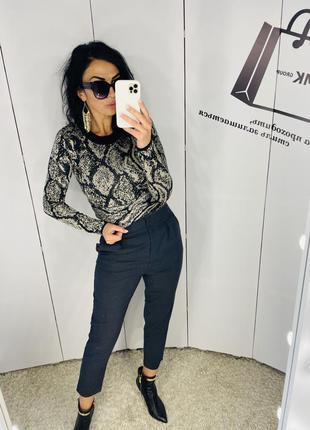Моднячі шерстяні штани з мега високою посадкою бренд pinko розмір 38 ціна 449 грн
