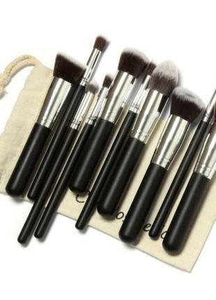 Акция ♥ кисти для макияжа набор 10 шт. в текстильном мешочке