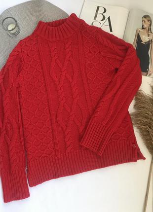 Красный свитер вязаный шерстяной lindex