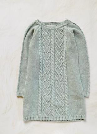 Primark стильное  теплое платье на девочку  5-6 лет