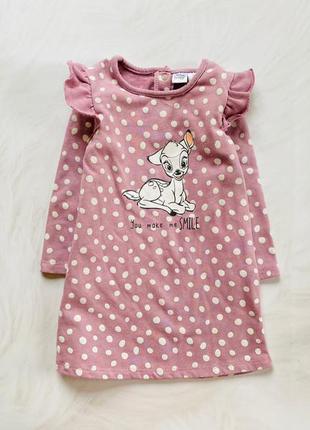 Disney  стильное платье на девочку 12-24 мес