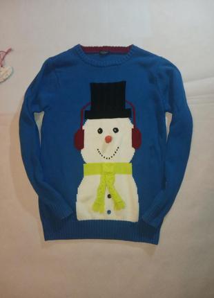 Свитер новогодний снеговик