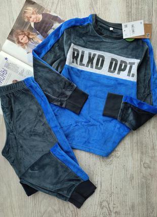 Велюровый спортивный костюм, комплект, свитшот и спортивные брюки, кофта и штаны