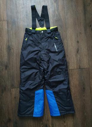 Тёплые термо штаны, зимние, полукомбинезон 10 лет