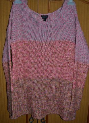 Уютный трендовый свитер грубой вязки topshop ( турция )