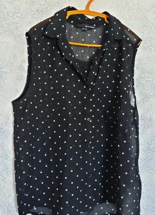 Блузка в горошек