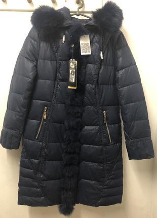 Пальто куртка ailigess с песцом