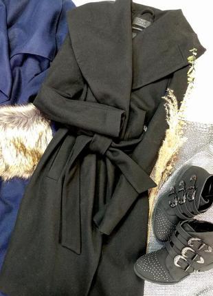 Пальто халат шерстяное миди
