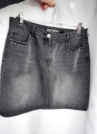 Класна джинсова юбка нова розмір 12  пот 41 см поб 53  довжина 47