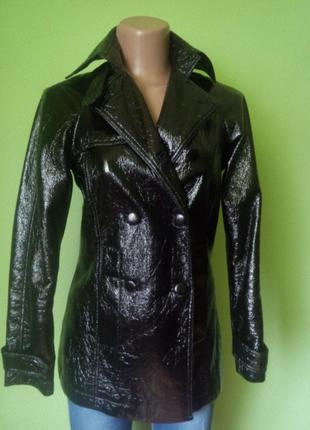 Латексная куртка весна осень
