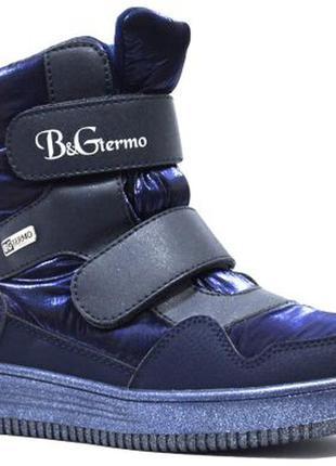 Термоботинки, ботинки зимние для девочки b&g-termo арт.hl21-1303, girl, синий